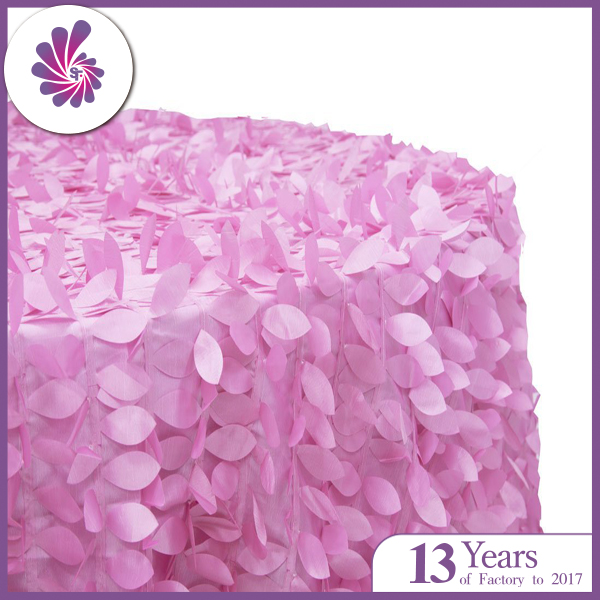 Oval Leaf Petal Taffeta Table Cloth For Wedding and Party