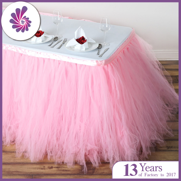 Wedding Tulle Organza Table Skirting
