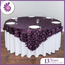 Round Taffeta Leaf Petal Table Overlay