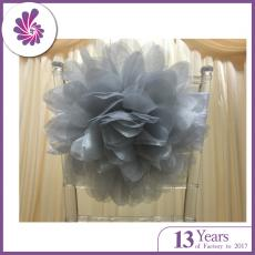 Organza Satin Rose Chair Sash for Decoration