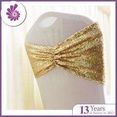 Sequin Ruched Chair Sash