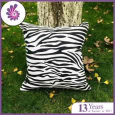 Linen Cushion Covers with Zebra