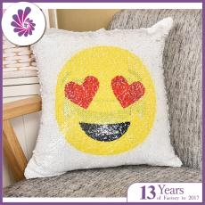 Emoji Reversible Sequin Cushion Cover