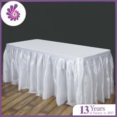 Polyester Satin  Table Skirts