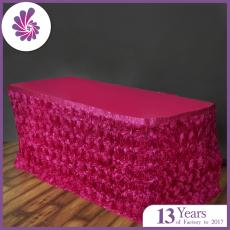 Wedding Rosette Table Skirt