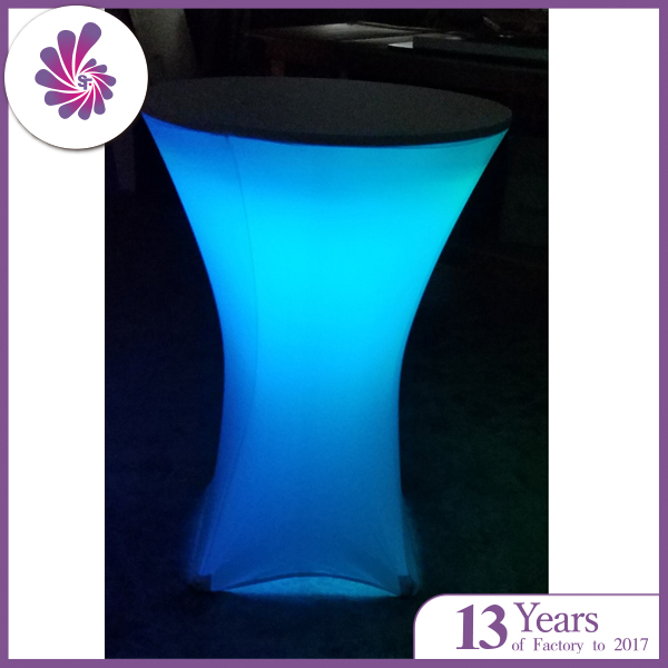 Spandex Cocktail Table Cover with Led Light Decorative