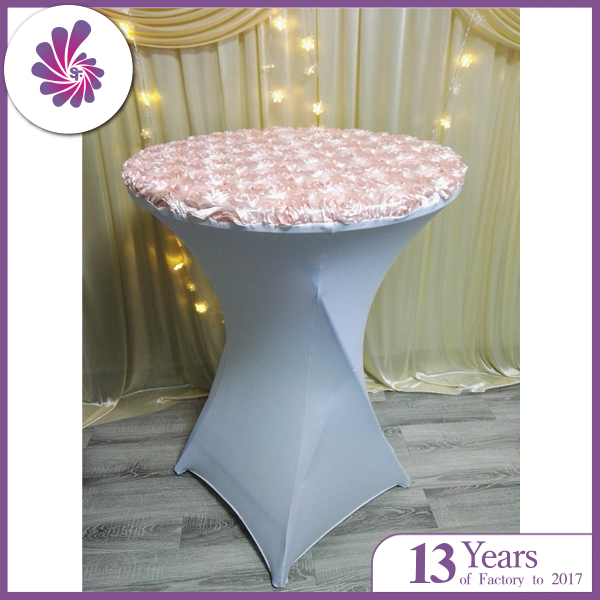 Rosette Spandex Fitted Table Cloth
