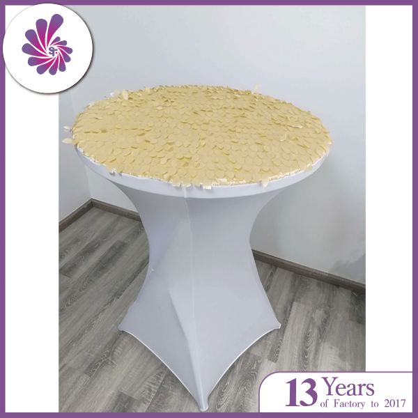 Taffeta Petal Spandex Fitted Table Cover
