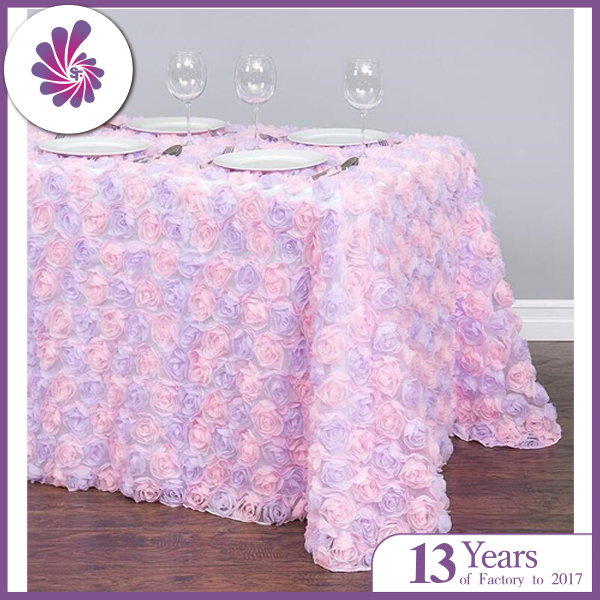 Chiffon Rosette Tulle Tablecloth