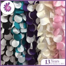 Muti-Color Round Taffeta Petal Fabric