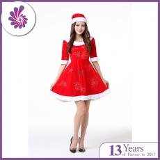 Mrs Santa Costume for Women Christmas Dress with Santa Hat