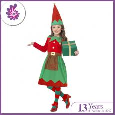 Custom Made Christmas Costumes Cosplay Party Elf Costume for Kids