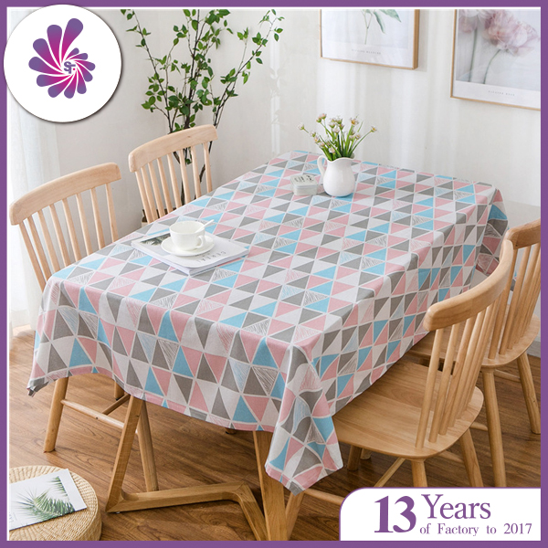 Cotton Linen Table Cloth with Printings