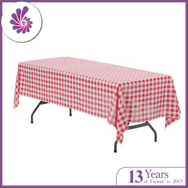 Polyester Checkered Tablecloth