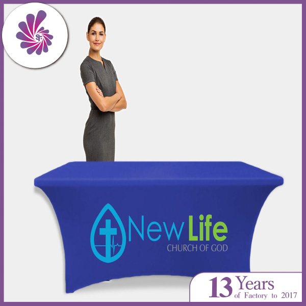 Rentangle customized Logo Stretch Table Covers