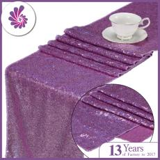 Sparkling Lavender Purple 3MM Sequin Table Runner