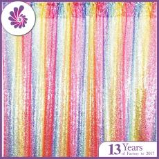 Amazon Top Seller 4*7FT Iridescent Rainbow Sequin Backdrop