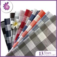 Checked Linen Fabric Plaid Material