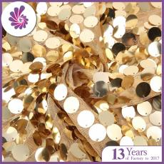 18MM Embroidery Sequin Fabric