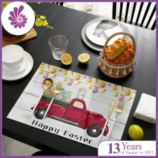Easter Placemats, Durable Cotton Linen Table Mats